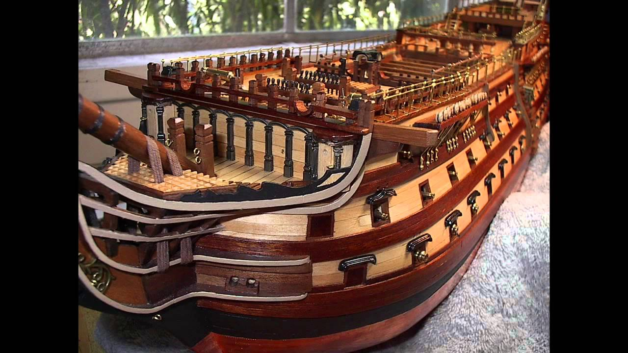 H.M.S. VICTORY Model Ship by Bill - YouTube