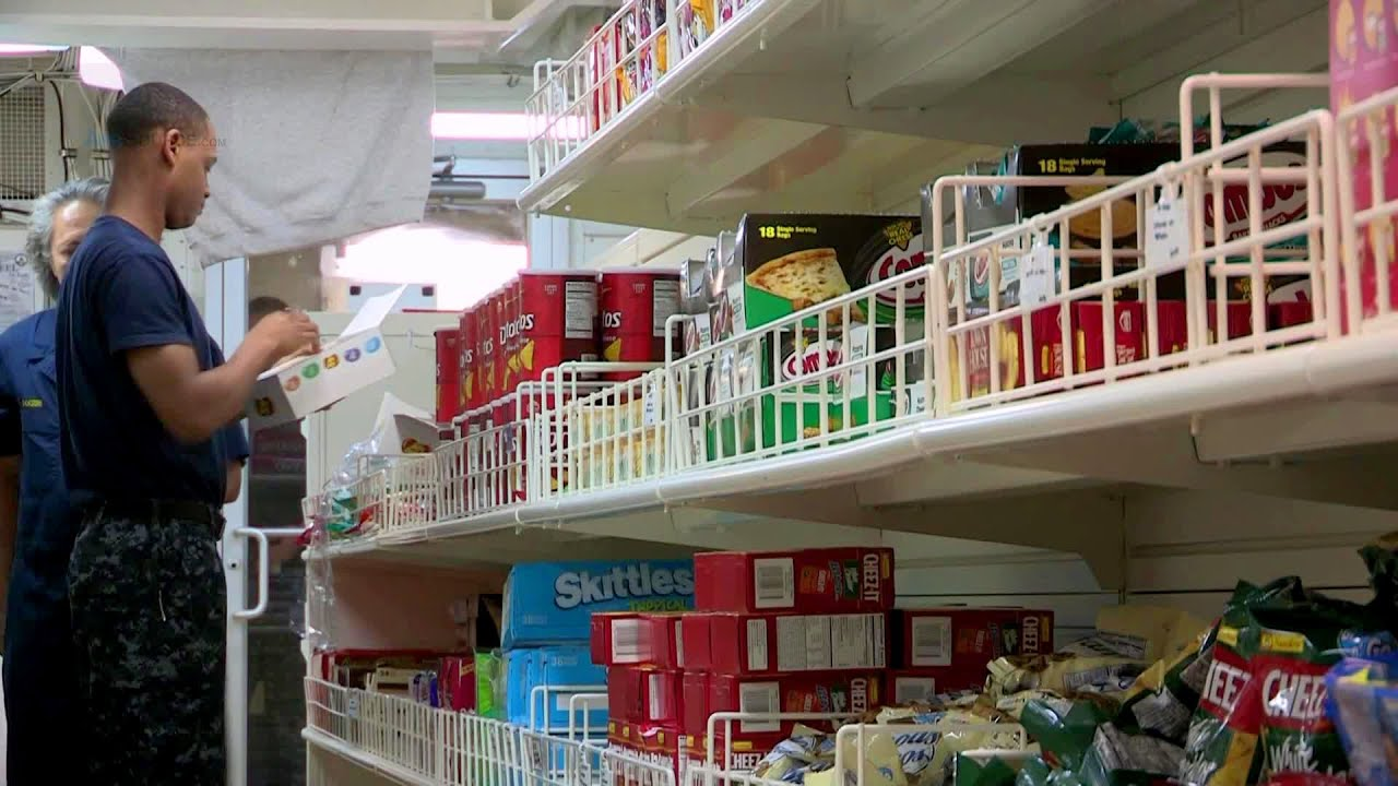 Grocery Shopping On Aircraft Carrier Uss George H W