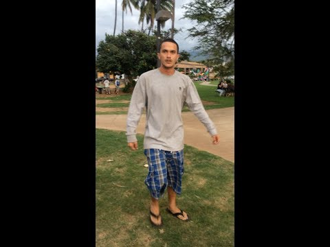 Kalama Beach, Maui, Hawaii - Man Threatens Women, Haoles, And Animals    2-15-2014 video