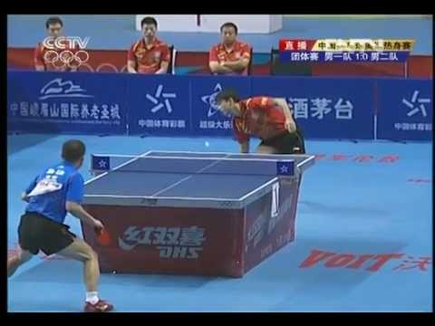 2012 China Warm-up Matches for Olymp WANG HAO vs MA LIN