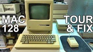 Macintosh 128k Mini-Tour and Black Screen Fix