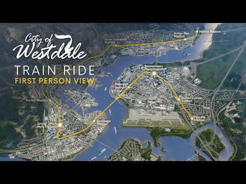 Cities Skylines: First Person Train Ride through Westdale [4K]