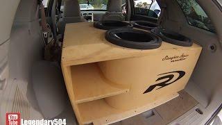 Alpine Type-R Subs In A Beautiful Kerfed Box
