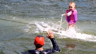 6-Month-Old Girl Breaks Record By Water Skiing Before She Can Walk