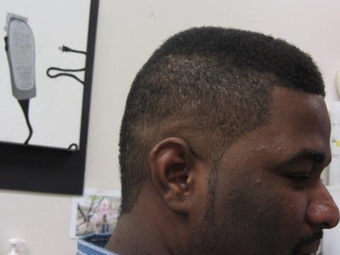 hot  burst fade mohawk   video clipper haircut youtube