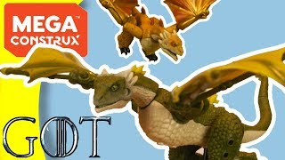 Mega Construx Game of Thrones Dragons - Drogon, Viserion, & Rhaegal