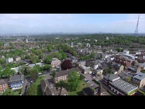 View from crystal palace in 4K Phantom3 uk London