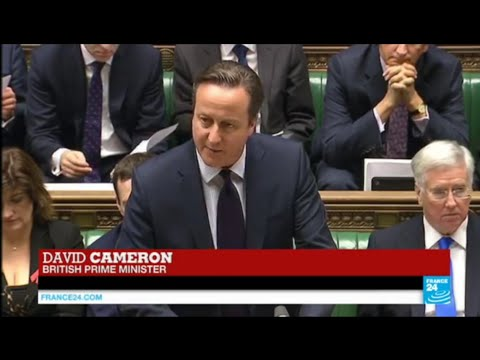 UK PM David Cameron addresses the House,  urging strikes against IS Group in Syria