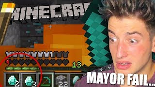 CONSIGO DIAMANTES Y HAGO MI MAYOR FAIL... !! MINECRAFT PARTE 2 BYTARIFA GAMING