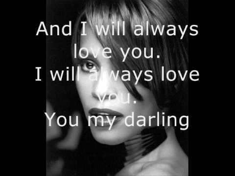Whitney Houston - I Will Always Love You - Lyrics video