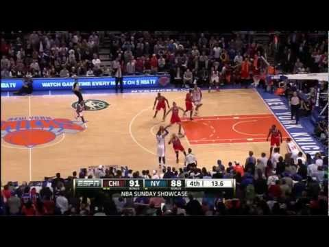 Carmelo Anthony Makes Two Clutch Three Pointers Against The Bulls ||April 8, 2012|| HD