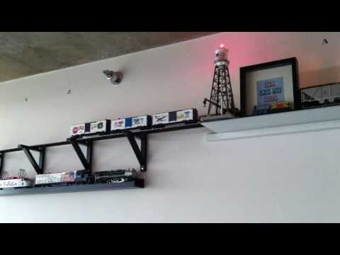 O Scale Train Ceiling and Wall Layout. (MTH and Lionel Warner Bros.)