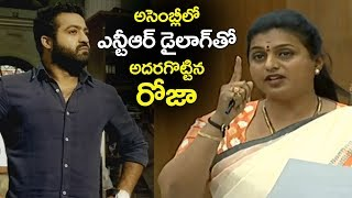 MLA Roja Says Jr NTRand#39;s Dialogue in AP Assembly | AP Assembly LIVE | Filmylooks