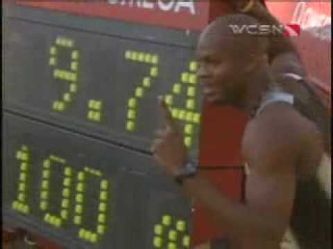 Asafa Powell World Record 9.74