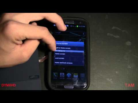 Samsung Galaxy S3 Tips Customize Homescreen/lockscreen
