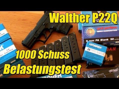 Umarex Walther P22Q 1000 Schuss Belastungstest