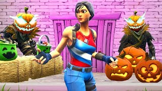 Hiding as HALLOWEEN PUMKINS w/ Lazarbeam In Fortnite Battle Royale!