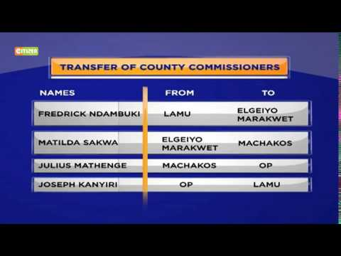County Commissioners Changes
