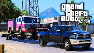 Firetruck Delivery! GTA 5 Real Life Mod #31 (Real Hood Life 4)