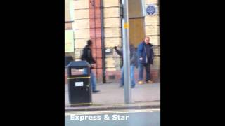 Knife & hammer attack on innocent whites in Wolverhampton city centre