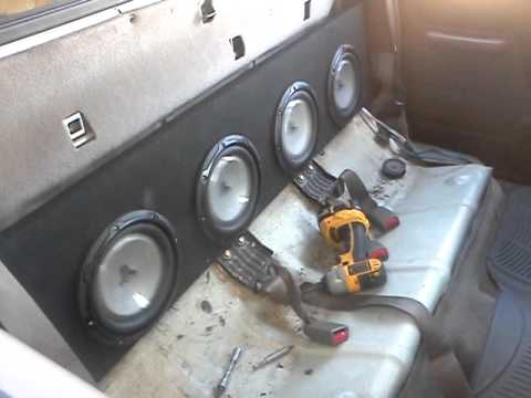 Nissan Frontier 02 Jl Audio Four 8w1 Subwoofer Youtube