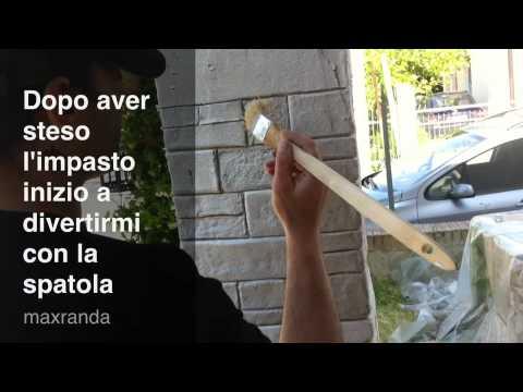 pietra finta fai da te ... alternativa economica by massimo - YouTube