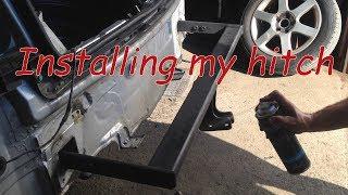 Volkswagen Golf 4 hitch install - 2: hitch installation