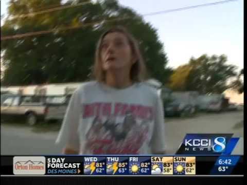 Iowa woman throws racial slur at reporter