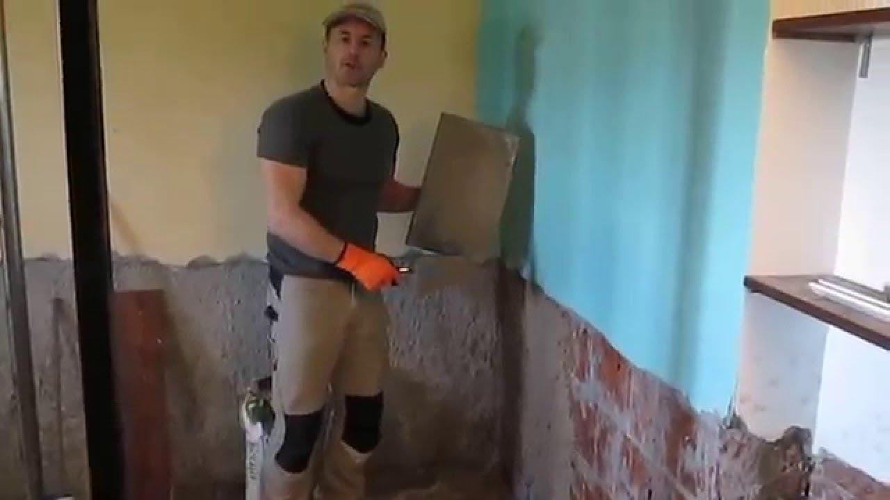 Come ripristinare un muro umido youtube - Come piastrellare un muro esterno ...