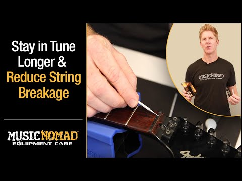 How to keep your guitar in tune longer & reduce string breakage using TUNE IT