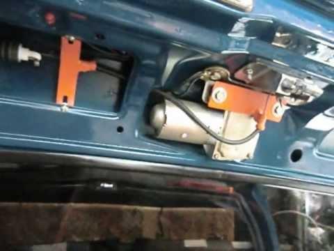 Самодельный привод замка багажника 2109