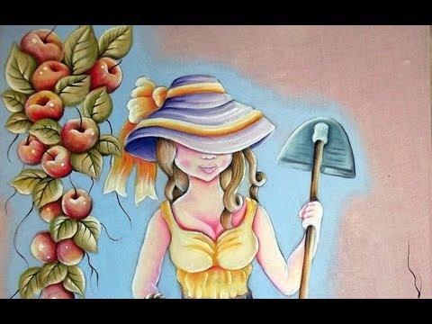Pintura em Tecido Camponesa 1/2-My  Painting