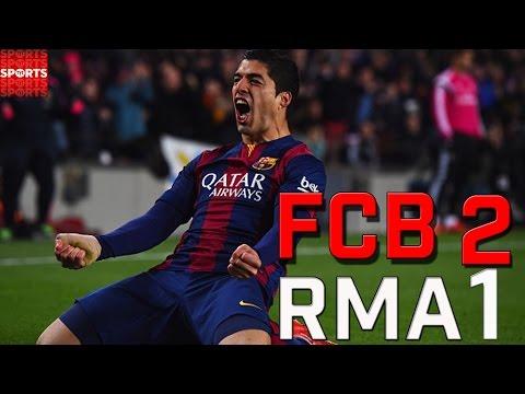 Amazing Luis Suarez Goal Wins Barcelona El Clasico 2015