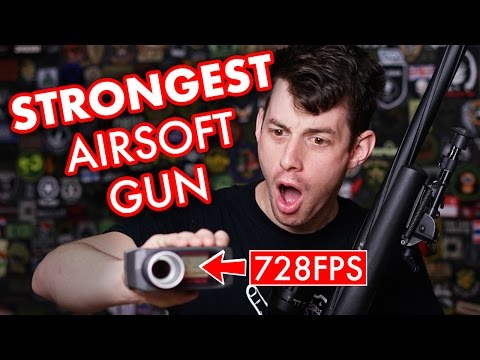 728 FPS - Strongest Airsoft Sniper Rifle