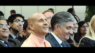 Radhanath Swami in HSBC London,UK
