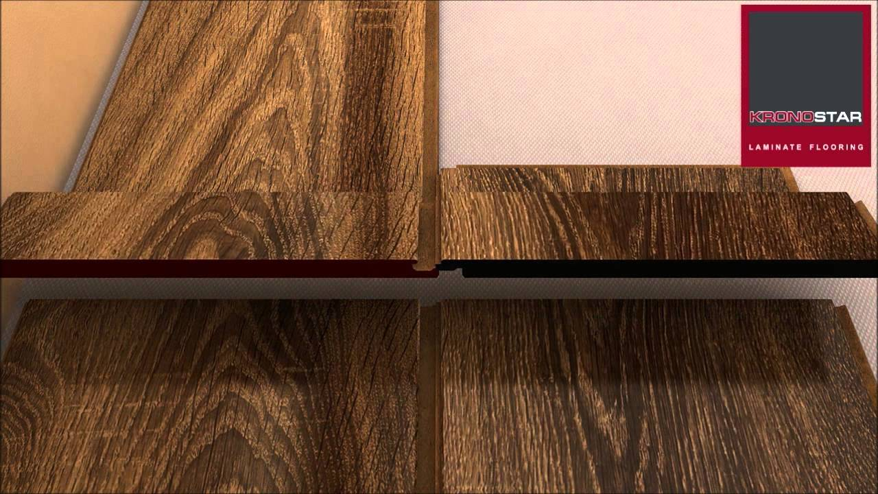 Укладка ламината кроностар  видео