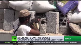Militants on loose: 1,200 inmates escape Yemeni prison, including al-Qaeda supporters