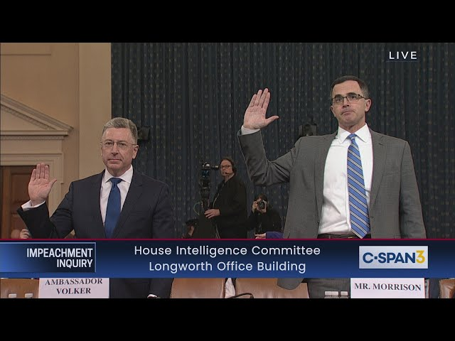 House Impeachment Inquiry Hearing - Volker & Morrison Testimony thumbnail
