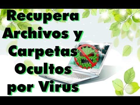 Recupera archivos y carpetas ocultos por virus