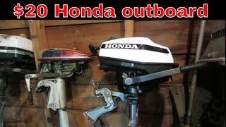 Will it Run? Garage sale Honda outboard,