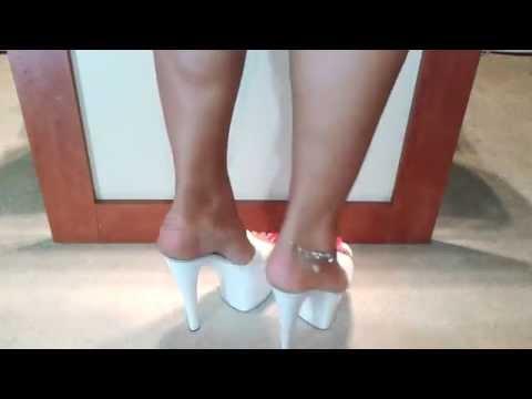 Lola Dephsacha Dangling Crossdresser Platforms Mules Feet Footjob video