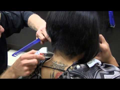 Short Sexy A Line Bob Womens Haircut Video video