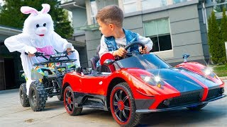 Artem and Easter Bunny & Surprise Toy Car - Fun Story