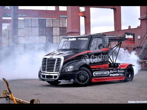 Size Matters 2 - Insane Gymkhana Style Semi Truck Drifting And Jump By Stunt Driver Mike Ryan video