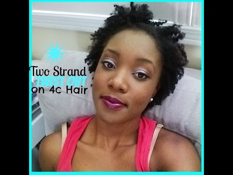 How To: Defined Two Strand Twist Out On Short Natural 4c Hair (Requested)