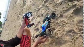 Rc Buggy wltoys Vortex a959 1/18 custom Upgrade to 1/10 Scale test run