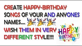 How To Wish Happy Birthday With Their Name In Song For FREE!!! Birthday Greetings Song