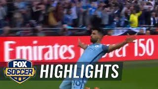 Sergio Agüero finishes breakaway | 2016-17 FA Cup Highlights