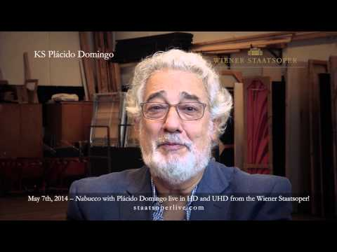 Plácido Domingo's invitation to the UHD live broadcast of Verdi´s NABUCCO (May 7th, 2014)