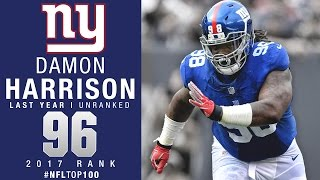 #96: Damon Harrison (DT, Giants) | Top 100 Players of 2017 | NFL
